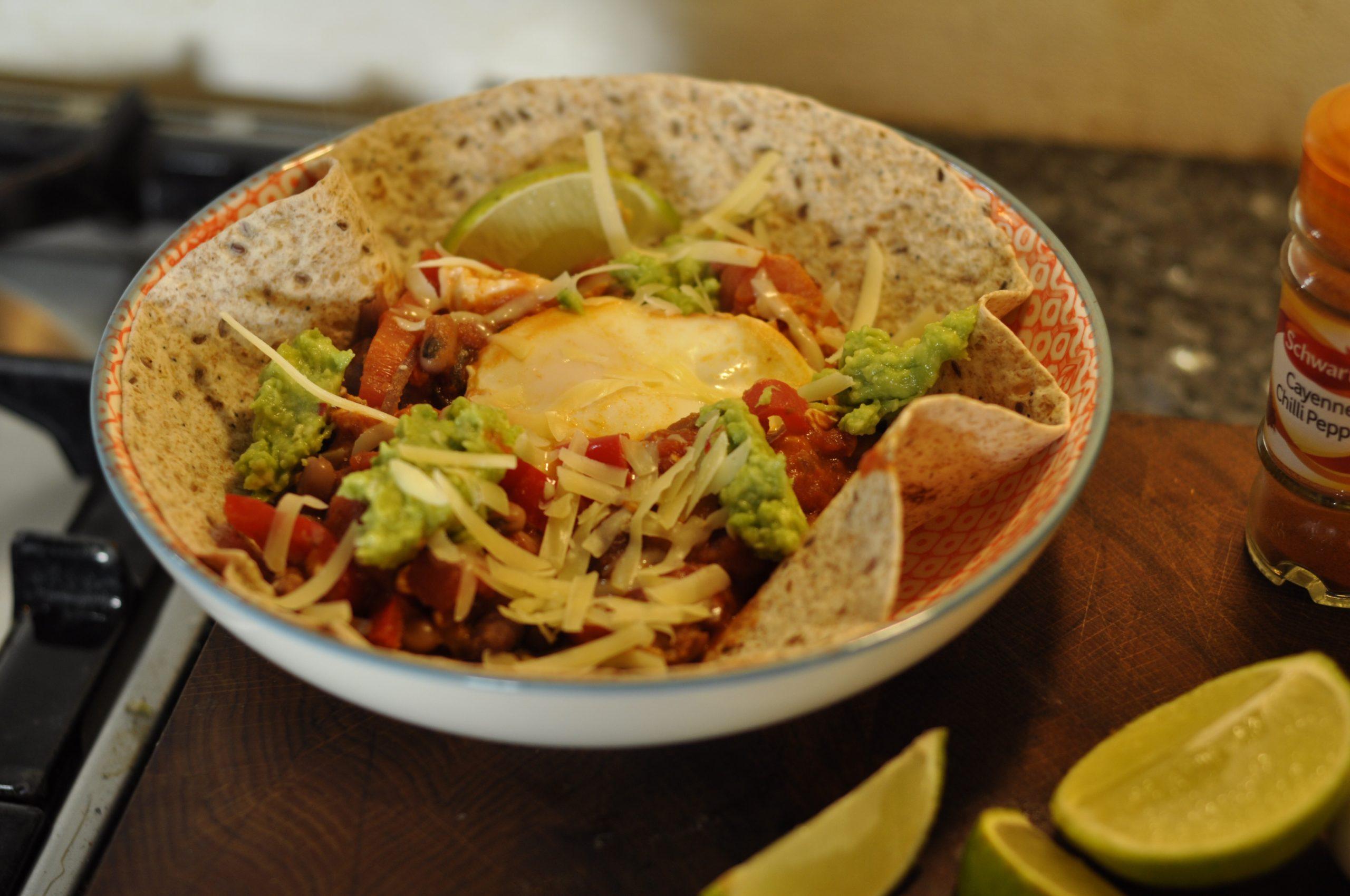 Recipe: One pot Heuvos Rancheros